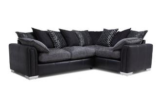 Left Hand Facing Pillow Back 3 Seater Deluxe Corner Sofa Bed