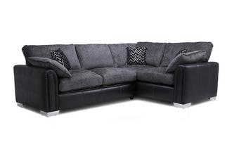 Left Hand Facing 3 Seater Formal Back Supreme Corner Sofa Bed Carrara