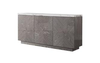 Large Sideboard Carrera Marble & Wood