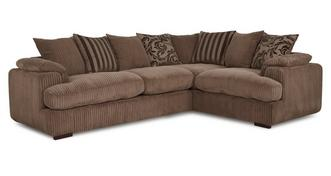 Celine Left Arm Facing 2 Seater Pillow Back Corner Sofa
