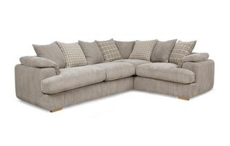 Left Arm Facing 2 Seater Pillow Back Corner Sofa Celine Alternative