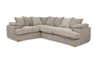 Right Arm Facing 2 Seater Pillow Back Corner Sofa