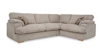 Celine Left Arm Facing 2 Seater Formal Back Deluxe Corner Sofa Bed