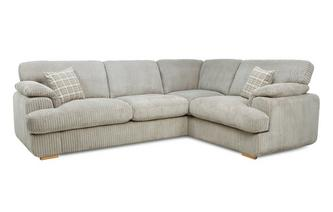 Left Arm Facing 2 Seater Formal Back Deluxe Corner Sofa Bed Celine Alternative