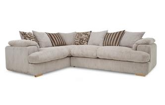 Right Arm Facing 2 Seater Pillow Back Deluxe Corner Sofa Bed
