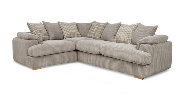 Celine Right Arm Facing 2 Seater Pillow Back Deluxe Corner Sofa Bed