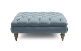 Plain Buttoned Footstool