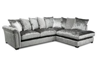 Pillow Back Left Hand Facing Arm 3 Seat Open End Corner Sofa