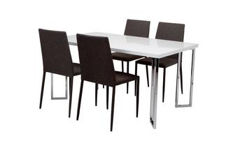 Fixed Top Table and 4 Zenn Chairs Chic