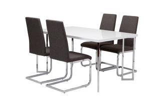 Fixed Top Table and 4 Vitra Chairs Chic