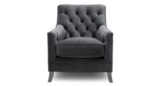 Churchill Velvet Accent Chair