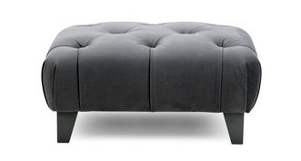 Churchill Velvet Buttoned Footstool