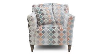 Claudette Pattern Occasional Chair