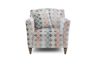 Pattern Occasional Chair Claudette Pattern