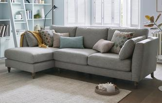 Claudette Left Hand Facing Chaise Sofa Claudette Plain