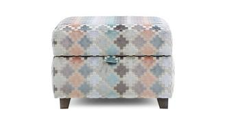 Claudette Pattern Storage Footstool