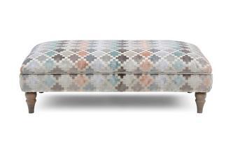 Pattern Banquette Footstool Claudette Pattern