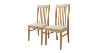 Clover Set of 2 Slat Back Dining Chairs