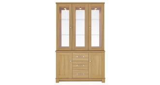 Clover 3 Door Glass Display Unit