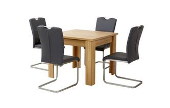 Small Fixed Top Table & Set of 4 Cantilever Chairs Clover