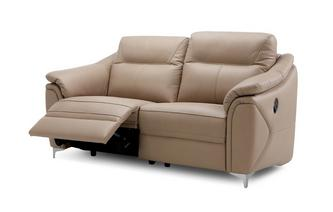 3 Seater Manual Recliner (Leather Contrast)