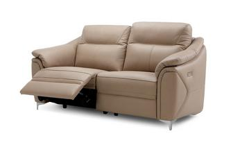 3 Seater Power Recliner (Leather Contrast)