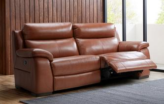 Crofton 3 Seater Manual Recliner Brazil with Leather Look Fabric