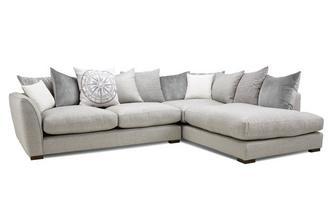 Pillow Back Left Hand Facing Arm Large Corner Sofa