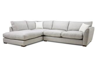 Formal Back Right Hand Facing Arm Large Corner Sofa