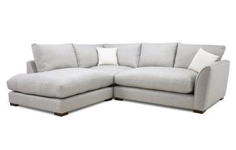 Formal Back Right Hand Facing Arm Small Corner Sofa