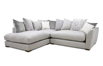 Pillow Back Right Hand Facing Arm Small Corner Sofa