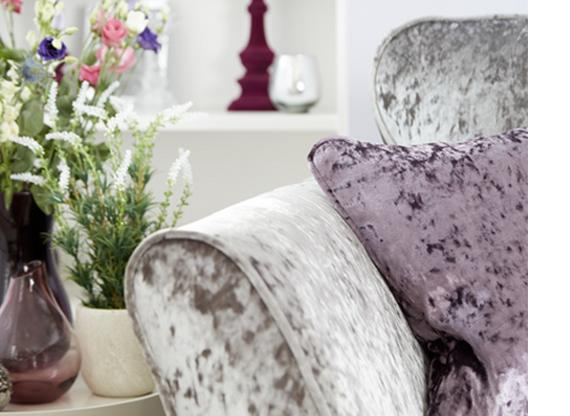 Crushed Velvet Sofa