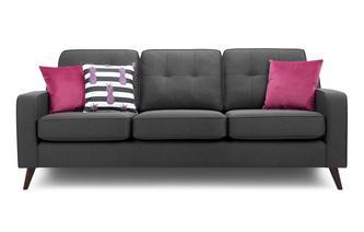 4 Seater Sofa Removable Arm Aston Plain