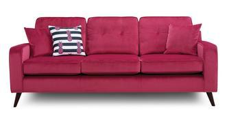 Cubana Velvet 4 Seater Sofa Removable Arm