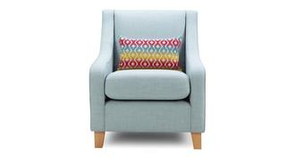 Cubix Accent Chair with 1 Pattern Bolster