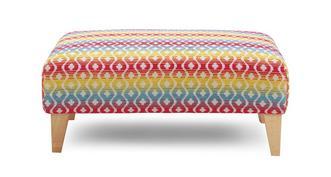 Cubix Pattern Banquette Footstool