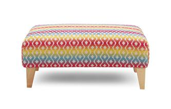 Pattern Banquette Footstool Meeky Pattern