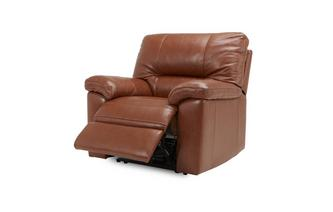 Power Recliner Chair Brazil with Leather Look Fabric