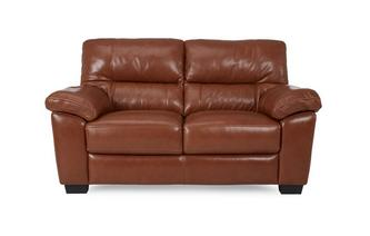 Large 2 Seater Sofa Brazil with Leather Look Fabric