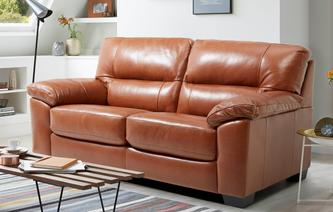 Dalmore Large 2 Seater Sofabed Brazil with Leather Look Fabric