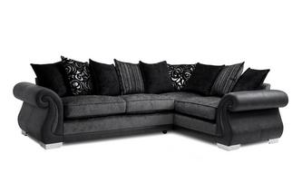 Formal Back Left Hand Facing 3 Seater Corner Deluxe Sofa Bed
