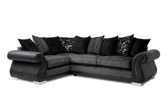 Pillow Back Right Hand Facing 3 Seater Corner Deluxe Sofa Bed