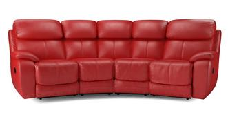 Daytona 4 Seater Curved Power Double Recliner