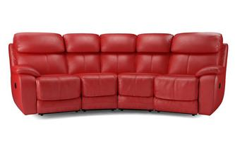 4 Seater Curved Power Double Recliner