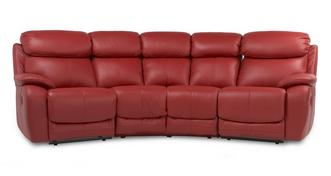Daytona 4 Seater Curved Manual Double Recliner