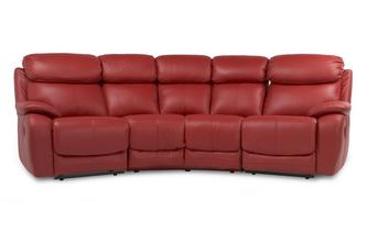 4 Seater Curved Manual Double Recliner