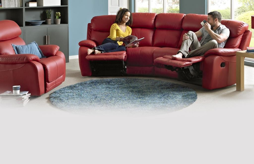 Admirable Daytona 4 Seater Curved Manual Double Recliner Gmtry Best Dining Table And Chair Ideas Images Gmtryco