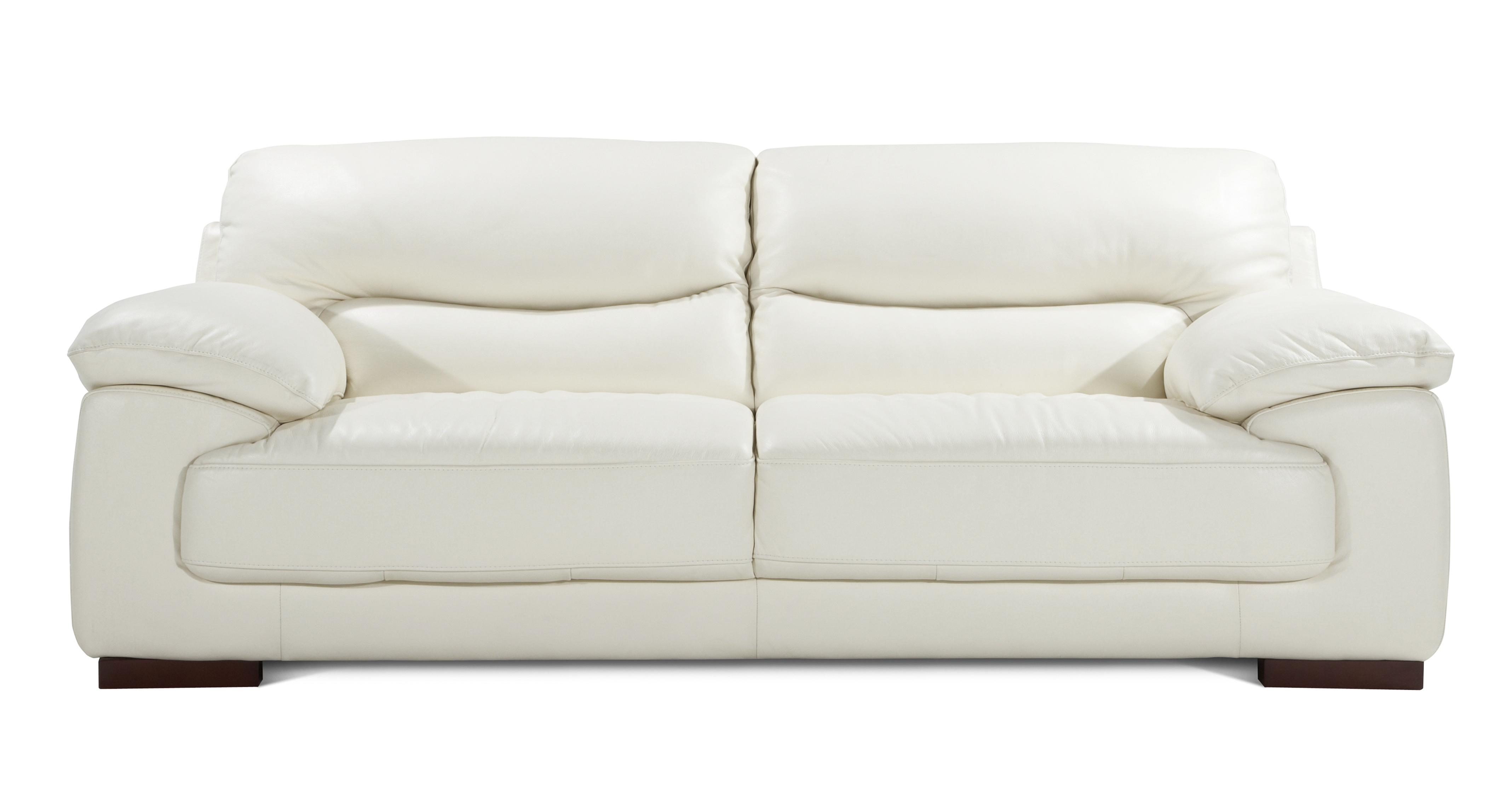 DFS Dazzle Set Inc Magnolia Real Leather 3 Seater Sofa 2 Seater