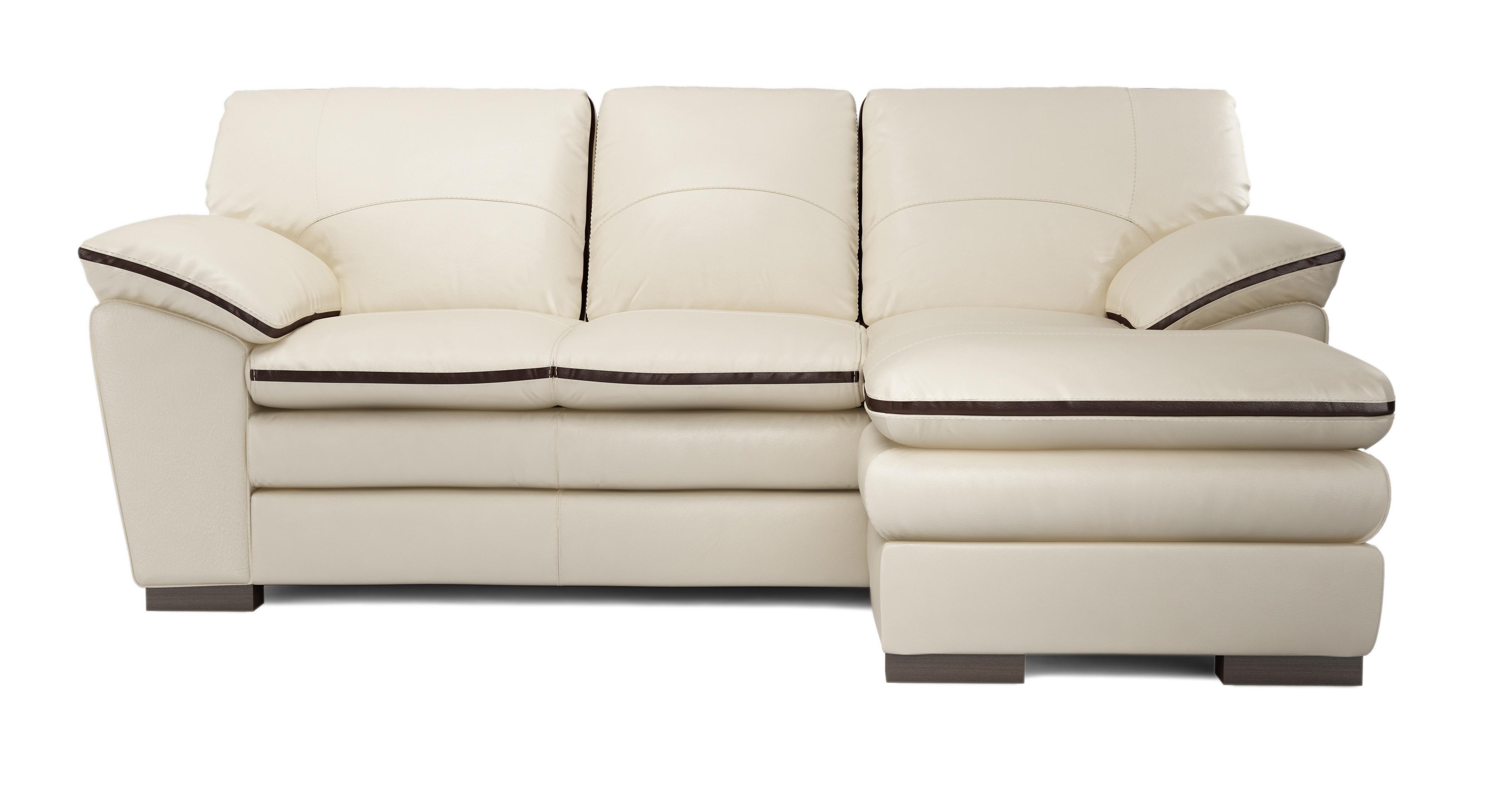 DFS Deco 100% Leather Set Inc RHF Chaise End Sofa ...