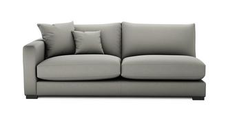Dillon Soft Plain Left Hand Facing Large Sofa Unit